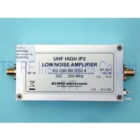 KU LNA BB 3050 A, Low Noise Broadband Amplifier 350-500MHz